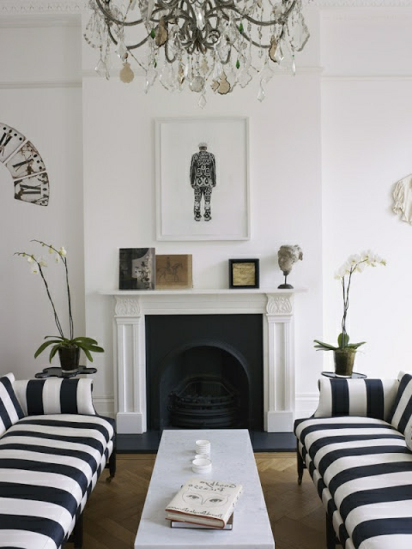 dekoration wei mobelideen deko wohnzimmer schwarz - boisholz - Wohnzimmer Mit Streifen Schwarz Wei Grau