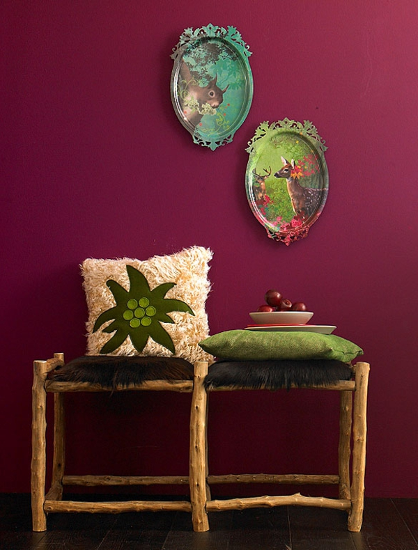 Wandfarbe Beere  ein Schluck Frische  Archzinenet