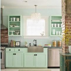 Green Kitchen Cabinets Outdoor Polymer Wandfarbe Mintgrün - Menthol Frische Im Sommer! Archzine.net