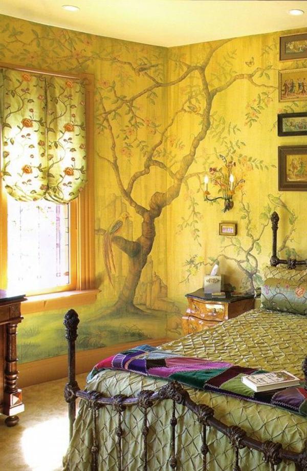 Tapeten Wohnzimmer Gelb