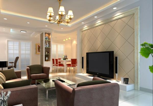 Lampen im wohnzimmer  Glas pendelleuchte modern