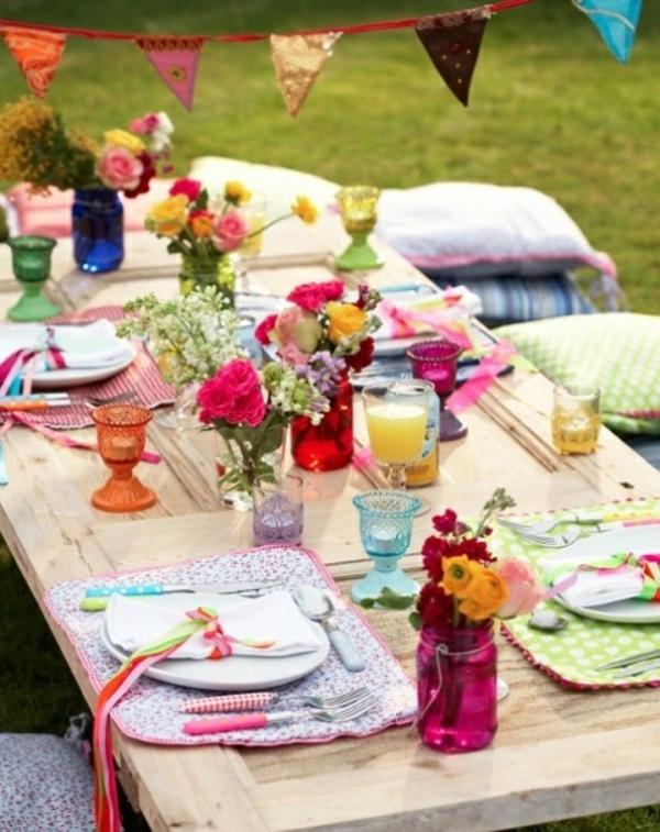 Sommerliche Tischdeko  39 coole Ideen  Archzinenet