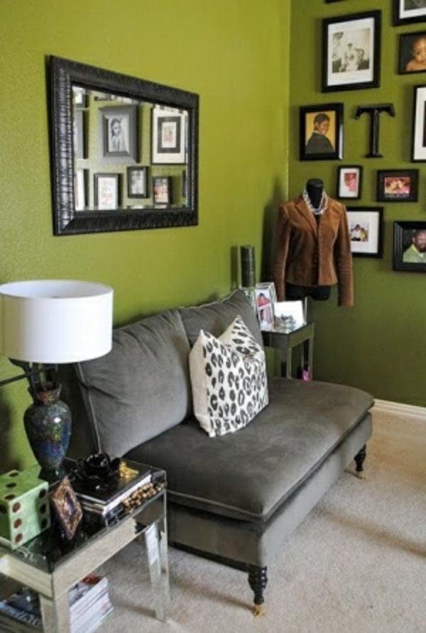 Wandfarbe Olivgrn ist im Trend  Archzinenet