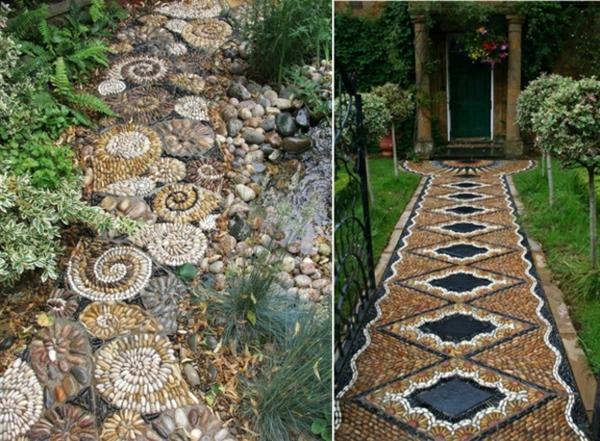 Gartenwege anlegen  kreative Beispiele  Archzinenet