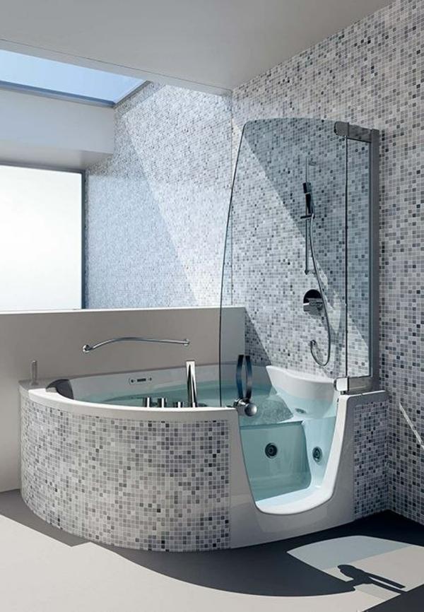 Badewanne mit Duschzone tolle Beispiele
