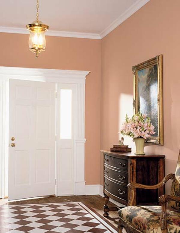 Wohnzimmer Farbe Apricot