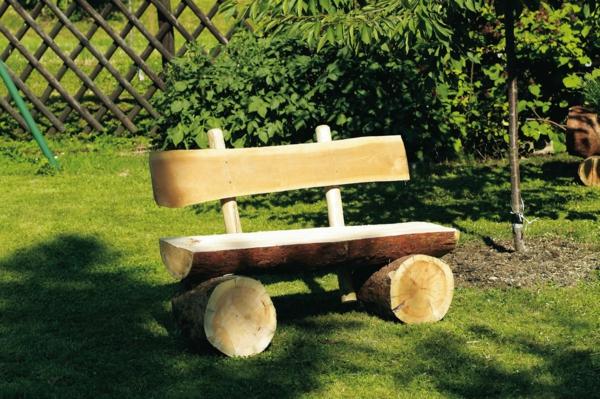 Rustikale Gartenbank  interessante Vorschlge