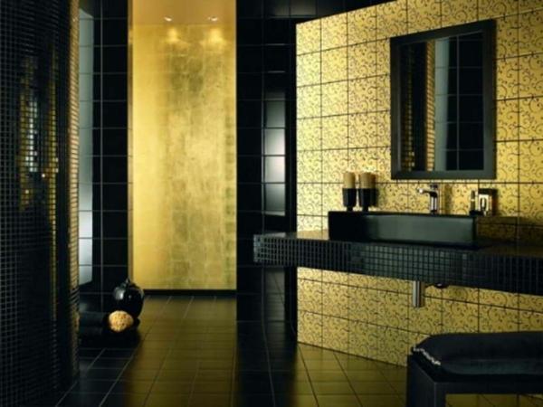 Einrichten mit Farben Goldene Wandfarbe und Mbel fr Luxus  Archzinenet
