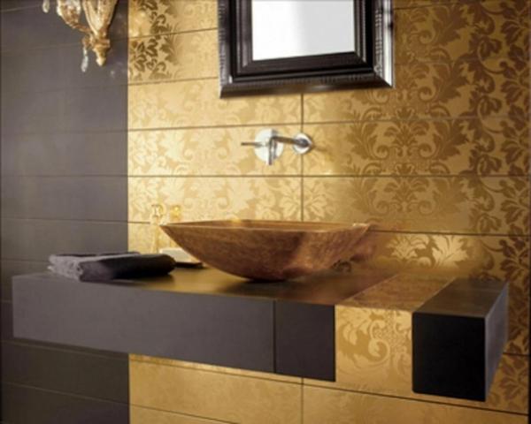 Einrichten mit Farben Goldene Wandfarbe und Mbel fr Luxus