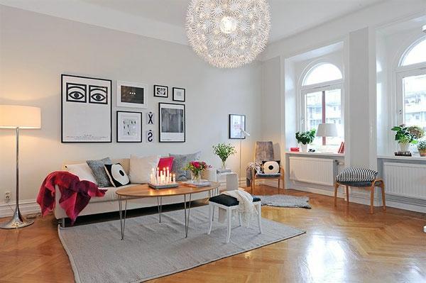 skandinavischer look im wohnzimmer - boisholz,