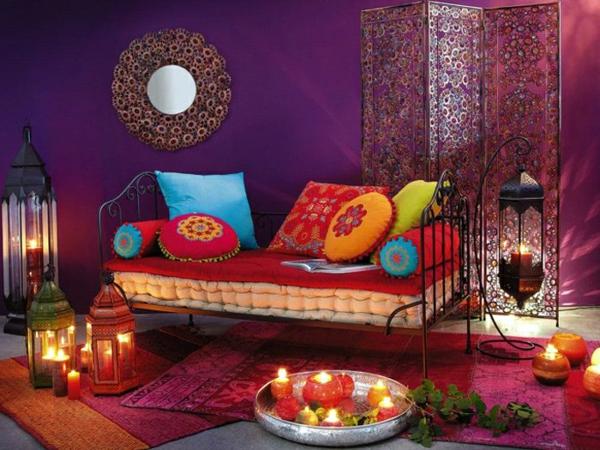 Orientalische Dekoration frs Wohnzimmer  33 Fotos