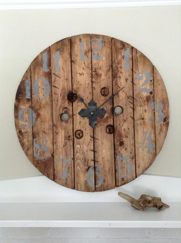 Wanduhr aus Holz  fantastische Beispiele  Archzinenet