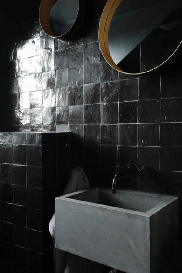 Einrichten mit Farben Schwarze Wandfarbe und schwarze Mbel  doch existiert  Archzinenet