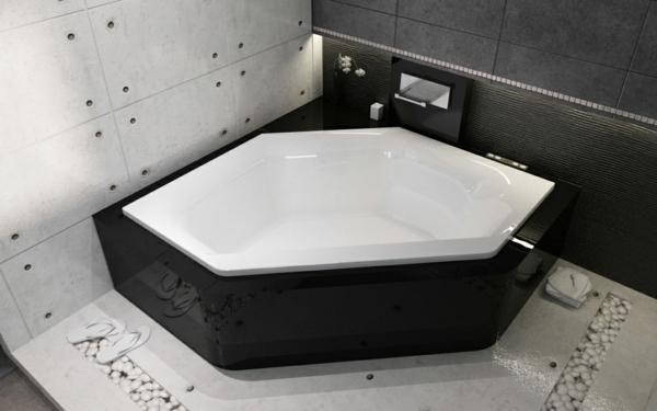 Eine sechseck  Badewanne wrde super in Ihrem Bad wirken