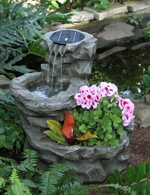 Solar Springbrunnen fr den Garten  Archzinenet