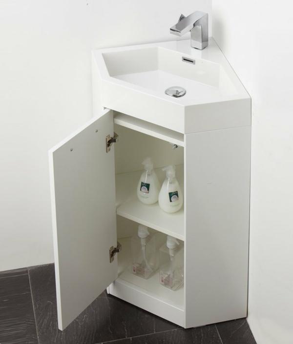 Eckwaschbecken mit Unterschrank frs Badezimmer