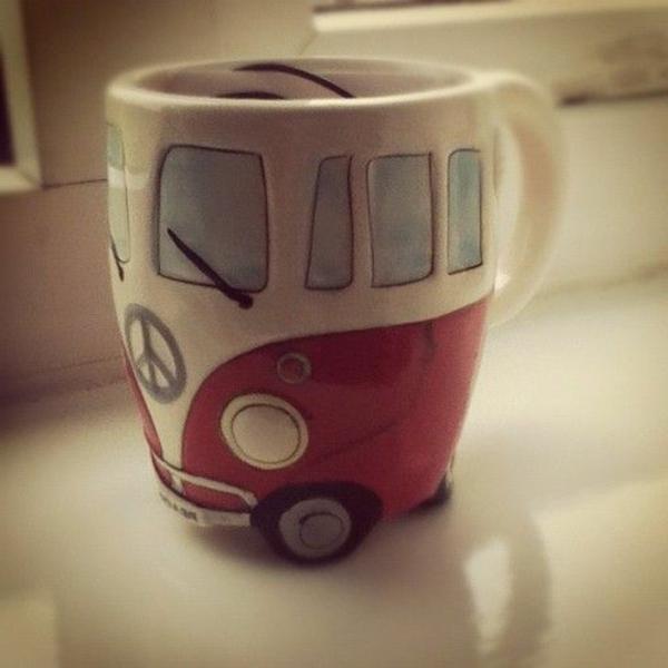Lustige Kaffeetassen