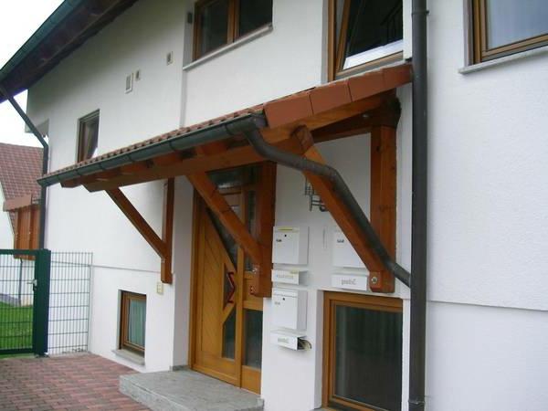 Vordach aus Holz  schne Ideen