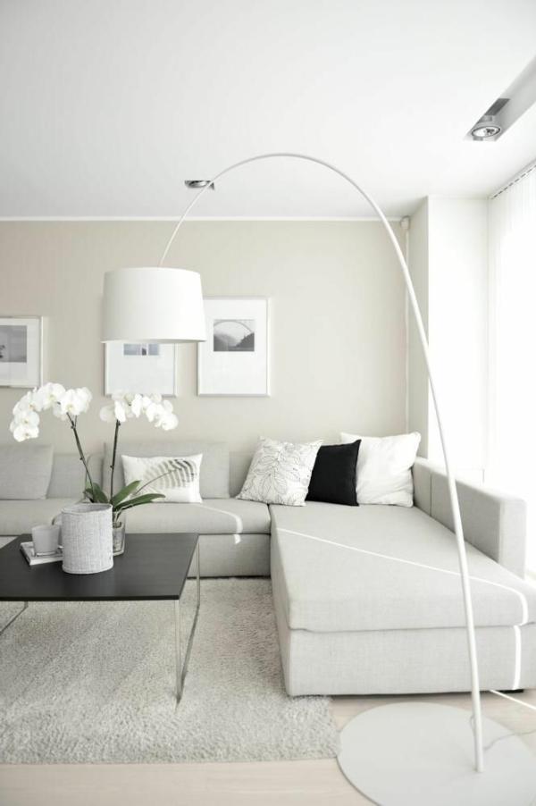 Modernes Wohnzimmer Weis