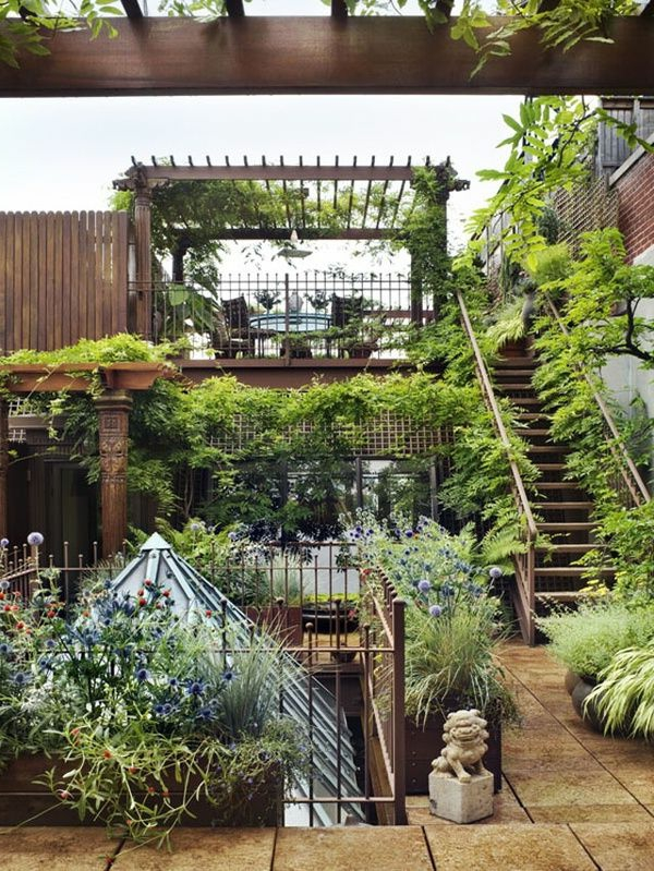 Terrassengarten  wunderschne Gestaltungsideen