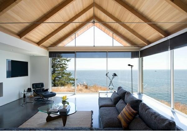 Zimmerdecken Ideen frs Wohnzimmer  53 prima Fotos  Archzinenet
