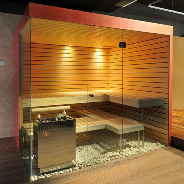 Sauna mit Glasfront  52 ultramoderne Designs  Archzinenet