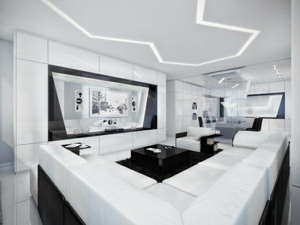 Wohnzimmer in Wei  33 geniale Ideen  Archzinenet