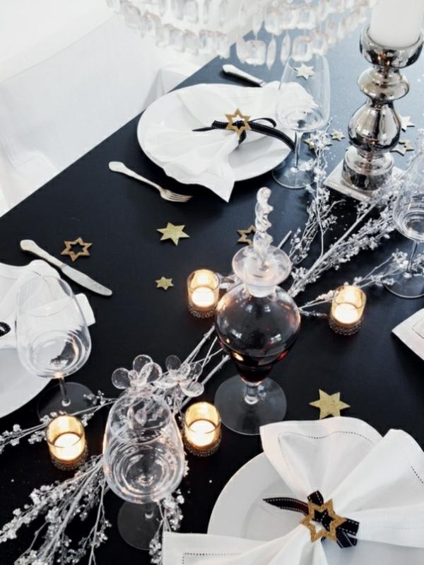 Silvester Tischdeko  fr einen zauberhaften Abend