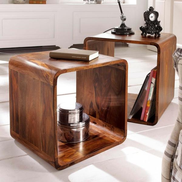 Beistelltisch aus Holz  fantastische Modelle!  Archzinenet
