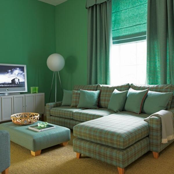 wandgestaltung grun freshouse wohnideen wohnzimmer grun - boisholz ...