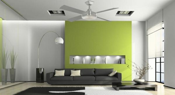 wohnzimmer bilder grun