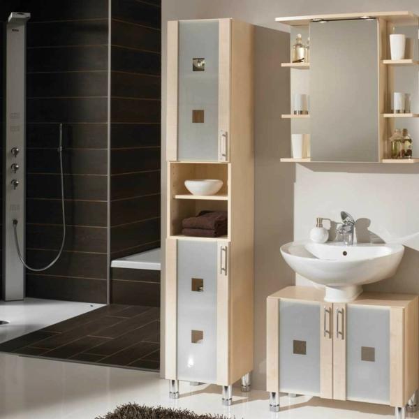 Moderner Hochschrank frs Badezimmer  Archzinenet