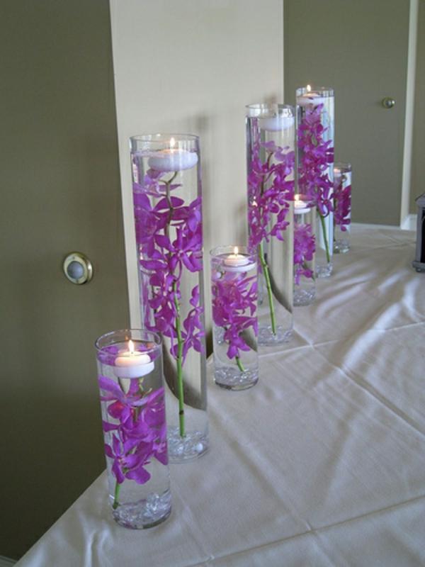 Lila Blumen Hochzeit