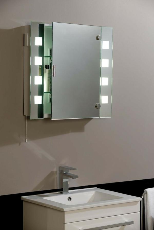 Badezimmer Spiegelschrank mit Beleuchtung  schne Ideen  Archzinenet