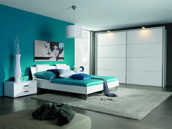 farbgestaltung wohnzimmer blau wohnzimmer modern and interior, Schlafzimmer ideen