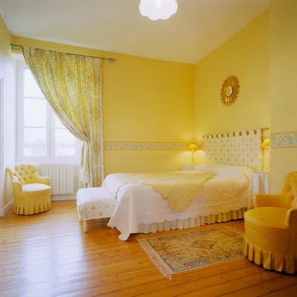 Gelbe Farbgestaltung im Schlafzimmer  24 Fotos  Archzinenet