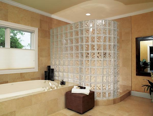 Glasbausteine badgestaltung  Kleines Badezimmer Badewanne Und Dusche | Ifmore
