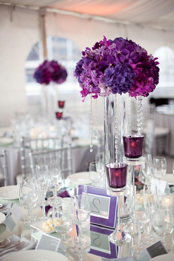 Moderne Blumen Tischdeko Hochzeit  Wohndesign