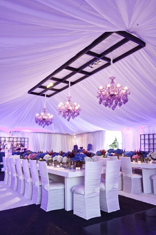 Tischdeko zur Hochzeit in lila Farbe  34 Bilder  Archzinenet