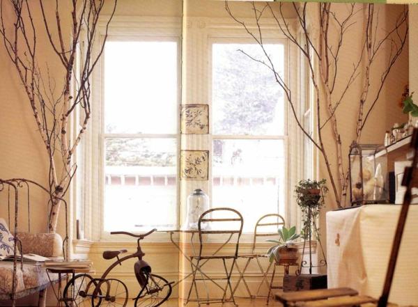 Schlafzimmer Lampe Art Deco   Fantastische Birkenstamm ...