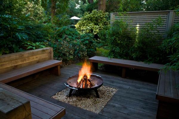 Feuerstelle im Garten  36 prima Designs