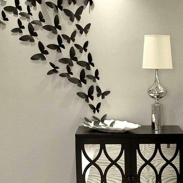 Schwarzer Schmetterling  richtig schne Dekoideen  Archzinenet
