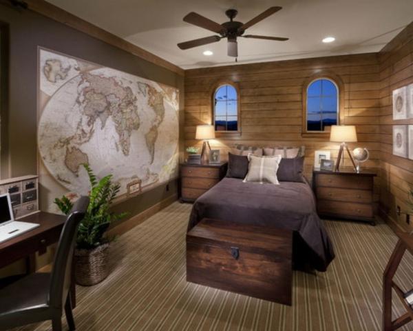 Wandgestaltung Schlafzimmer Blau | Farbgestaltung Flur ...