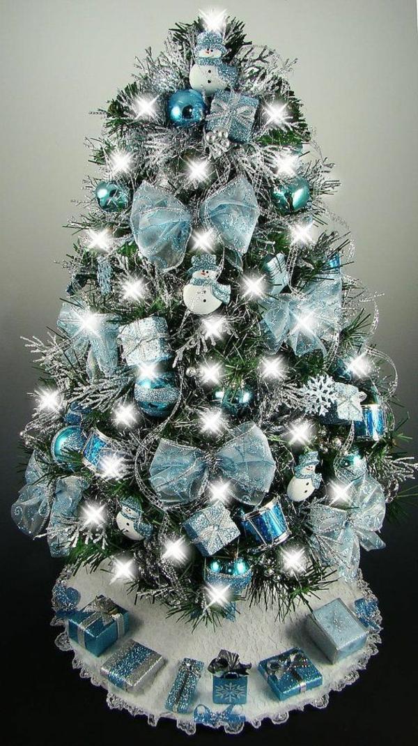 Wunderschne Ideen fr Weihnachtsbaum Deko  Archzinenet