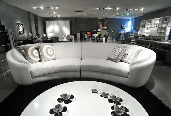 Wunderschne Vorschlge fr ein halbrundes Sofa
