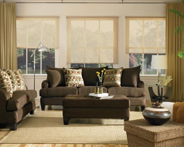 Wohnzimmer Ideen Braune Couch | Tesoley.Com