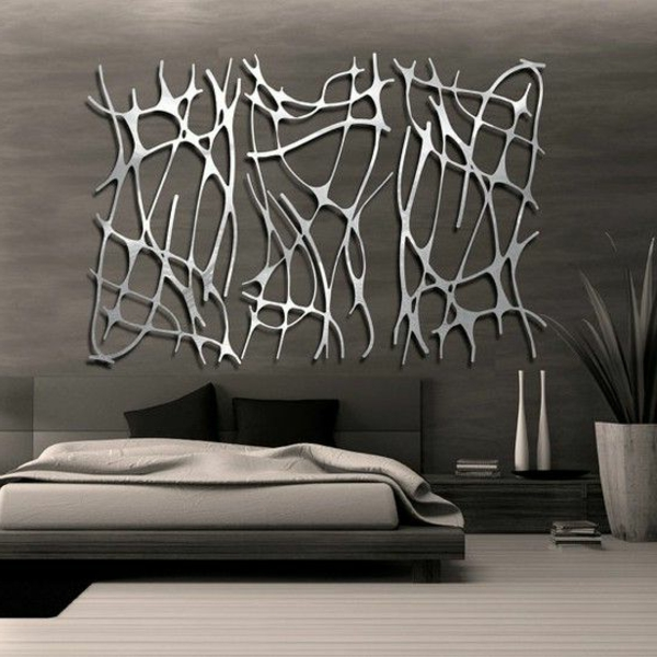 schlafzimmer ideen wandgestaltung grau schlafzimmer - boisholz - Schlafzimmer Wandgestaltung Beispiele