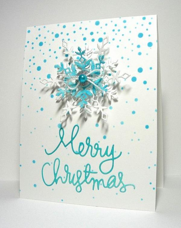 Schne Weihnachtskarten Selber Basteln Mehr Als 100