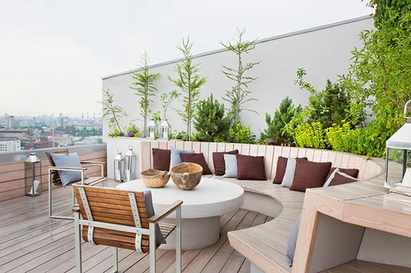 terrasse mit modernen mobeln einrichten design idee - boisholz, Terrassen ideen