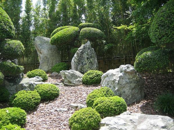 100 unglaubliche Bilder moderner Steingarten  Archzinenet